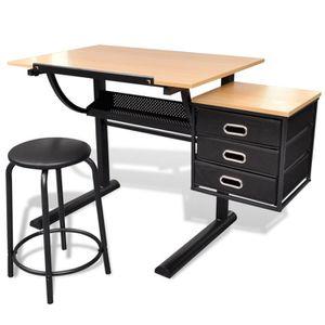 TABLE DE RÉUNION 2PCS Table à Dessin Inclinable Pour L'Art Et L'Art