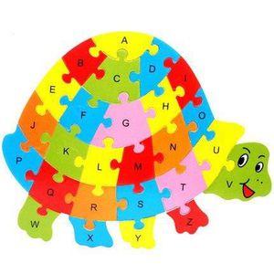 PUZZLE 1Pcs Alphabet Puzzle 3D Bois Enfant Jeux éducatifs