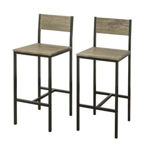 TABOURET DE BAR SoBuy® FST53x2 Lot de 2 Chaises Tabourets de bar c