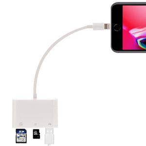 CLÉ USB Clé USB blanc pour iPhone, iPad Lightning à SD + T