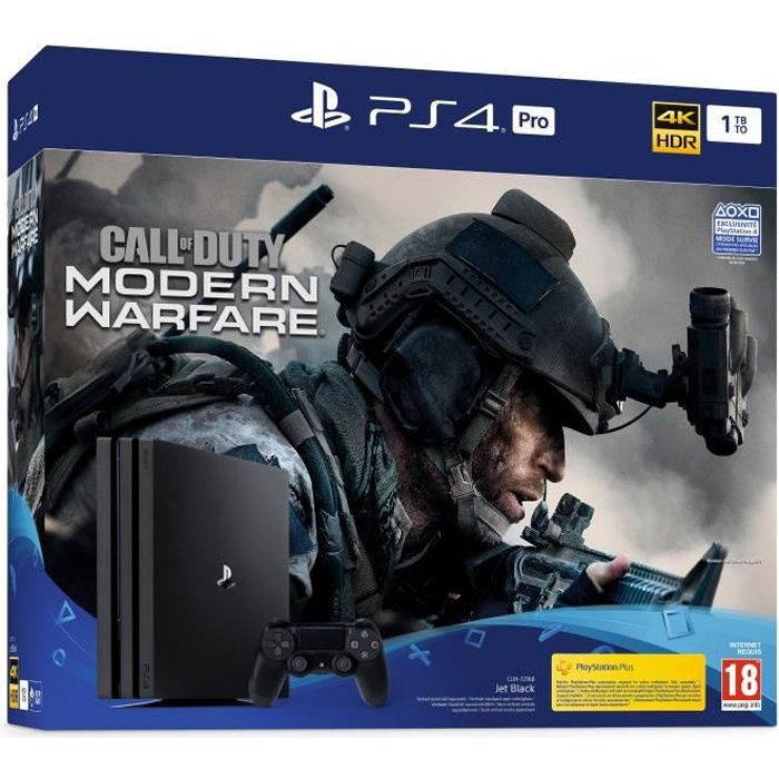 CONSOLE PS4 PS4 Pro 1To Noire + Call of Duty Modern Warfare