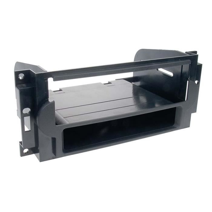 Adaptateur de façade 1-DIN avec vide poche Chrysler/Jeep noir