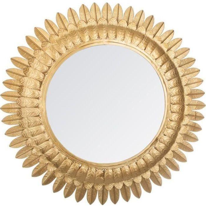 Miroir feuilles en métal