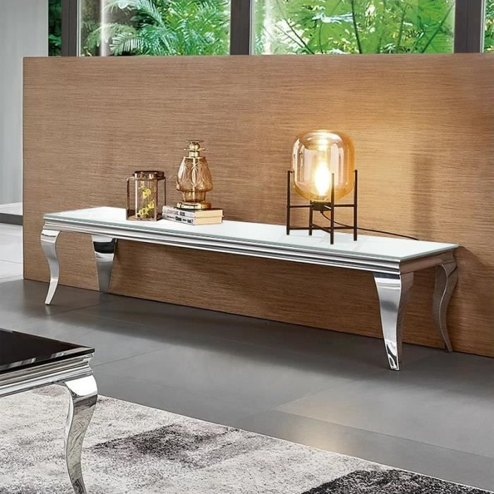 Meuble TV design EMA - Blanc