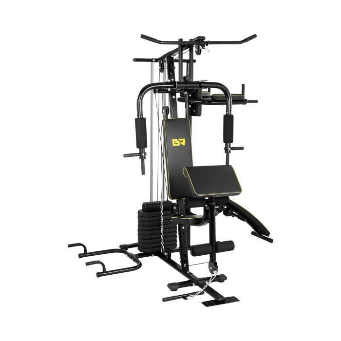 Appareil Musculation Multifonction Banc Machine Station Poste Fitness Entraînement Abdos Pectoraux Gymrex GR-MG10