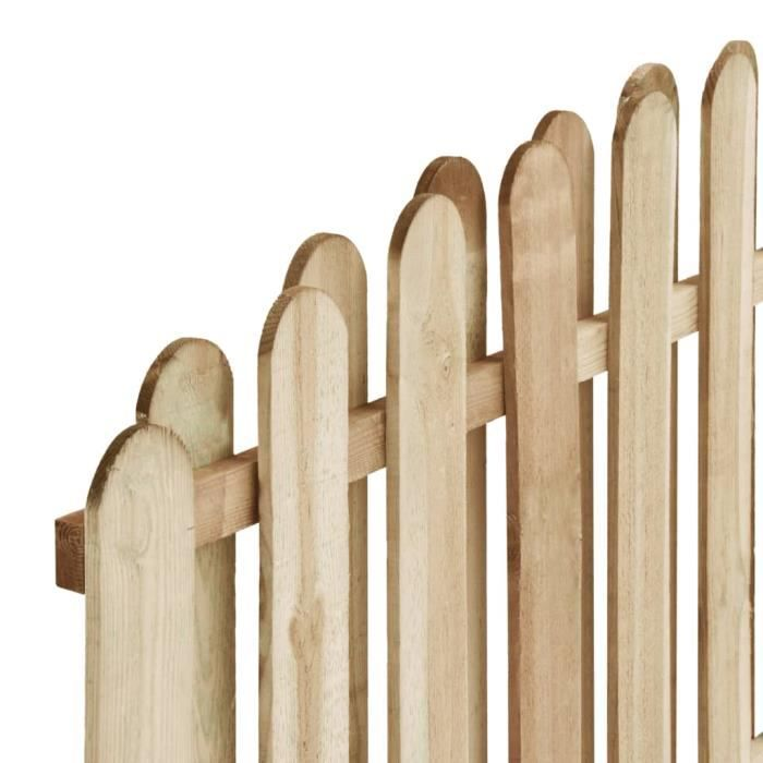 Haute qualité Clôture de jardin Panneau de clôture - Clôture Grillage Bois de pin imprégné 180x(155-170) cm *181549