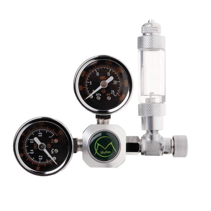 Aquarium,NICREW Aquarium CO2 régulateur avec clapet anti retour compteur à bulles électrovanne - Type CO2 Regulator B-G5-8 EU Plug
