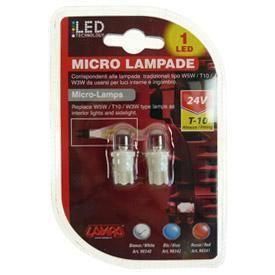 2 Ampoules 1 Led T10 24V blanc