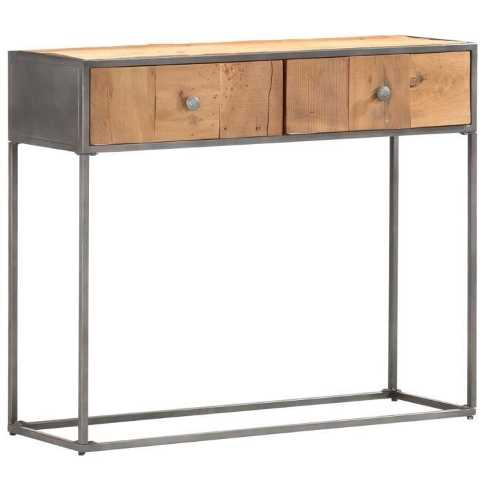 Console Style industriel - Table console Table d'entrée Table de Bureau 90 x 30 x 75 cm Bois de récupération massif élégant @894329