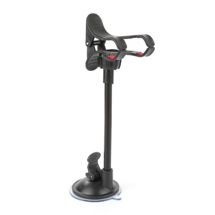 Supports voiture,Pour téléphone voiture Support pour téléphone Support GPS Flexible 360 degrés Rotation montage pare - Type Black