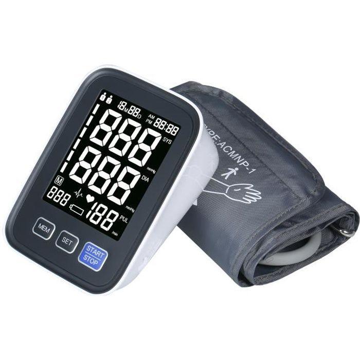 Tensiomètre bras automatique Électronique, avec grand brassard, 2 × 90 ensembles de données Record - usage domestique