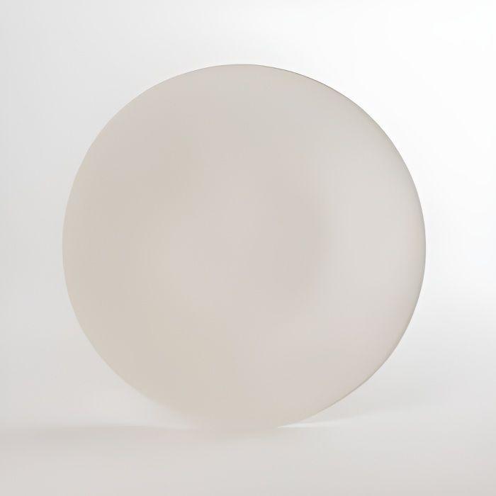 Assiette plate vesuvio blanc