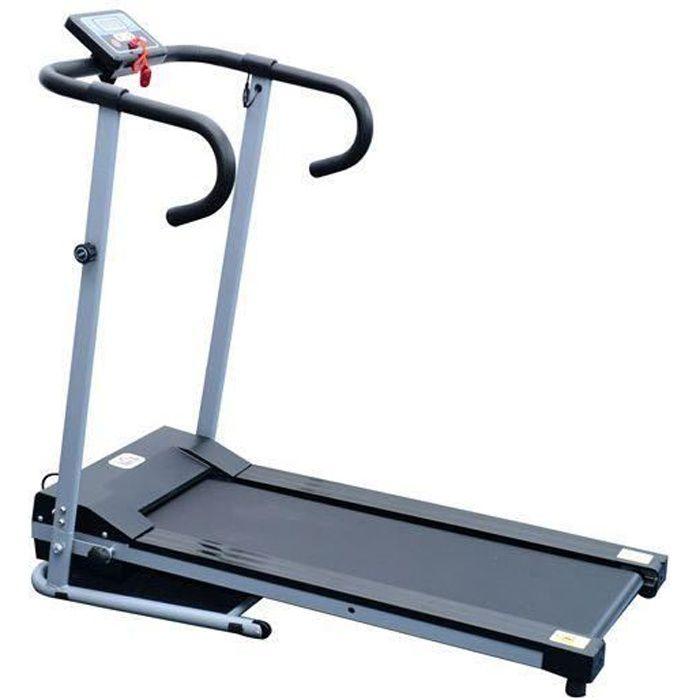 Tapis roulant de course electrique fitness argent-noir 97