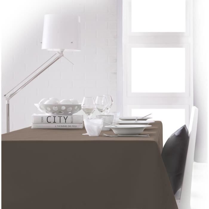 TODAY Nappe rectangulaire 150x250 cm - Marron bronze