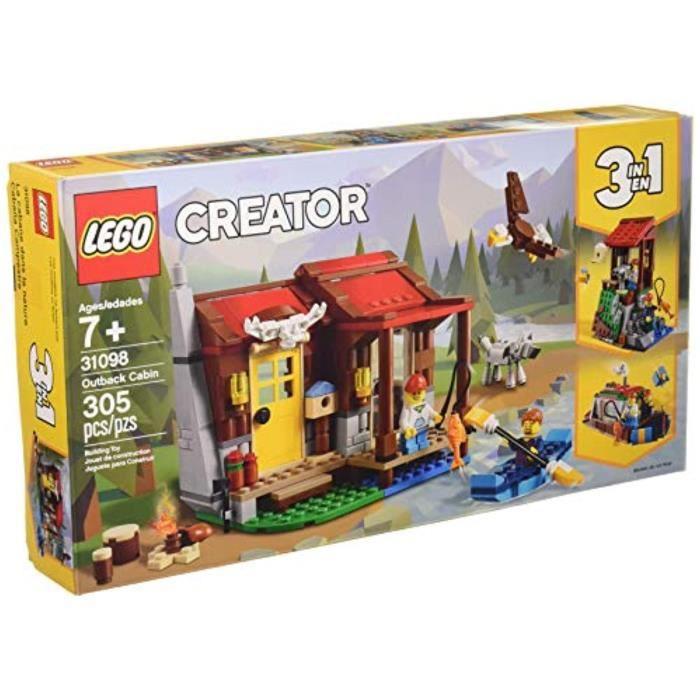 Jeu D'Assemblage LEGO JBIDC Creator Outback Cabin 3198 Kit de construction de jouets (35 pièces)