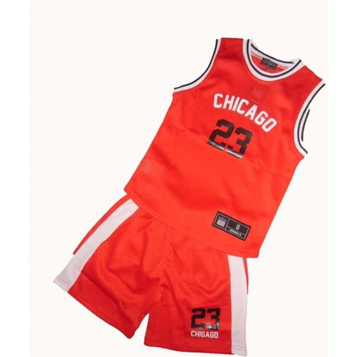 ENSEMBLE MAILLOT BASKET CHICAGO TAILLE 14 ANS