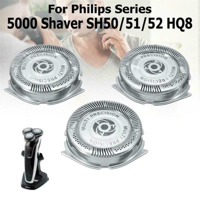 3PCS Têtes de rasoir lames de rasoir durables pour rasoir Philips série 5000 SH50 - 52