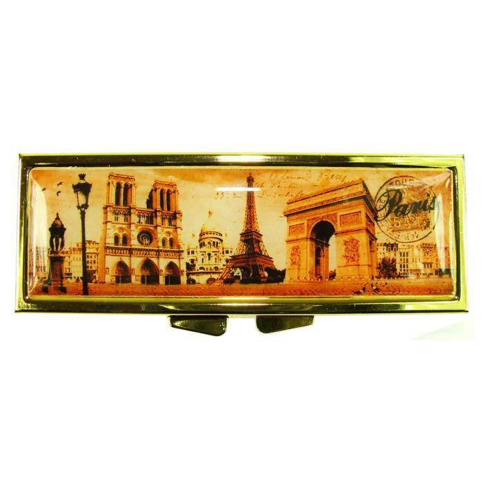 Pilulier Rectangle Monuments de Paris