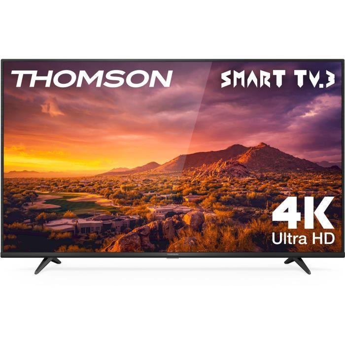 THOMSON 65UG6320 - TV LED UHD 4K 65- (165cm) - Smart TV - Dolby Digital Plus - 3xHDMI, 2xUSB - Noir