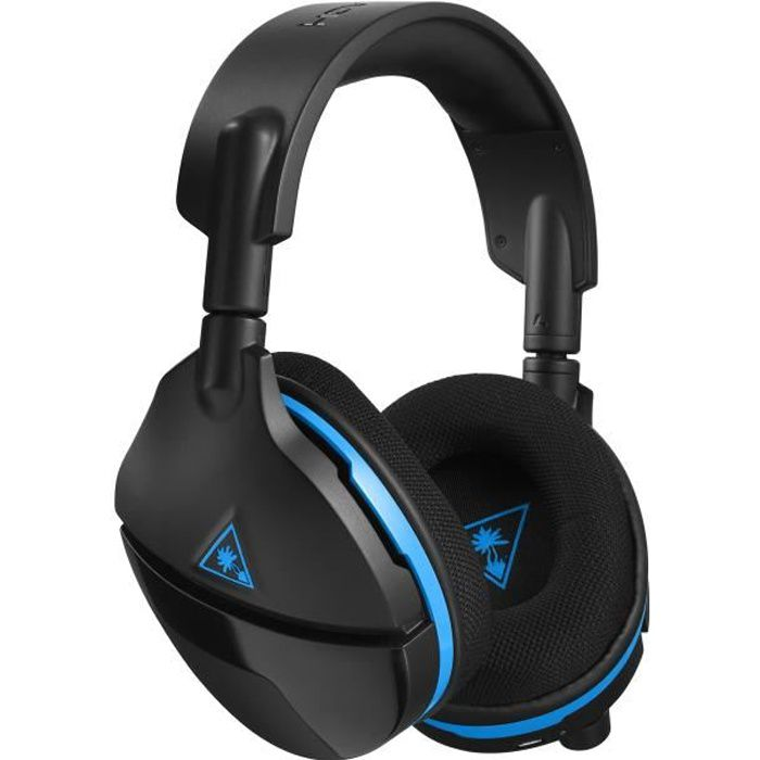 TURTLE BEACH Casque gamer Stealth 600 - Sans fil - Suround - Superhuman hearing™ - Noir et bleu - PS4