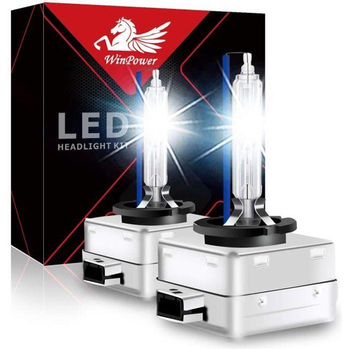 2 Ampoules D1S 35W 12V WINPOWER Lampe Rechange Remplacement Feu XENON 8000K KIT HID pour Citroen Peugeot Suzuki Audi BMW