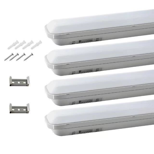 5x 120cm r glette led 24w eclairage etanche ip65 for Luminaire de garage