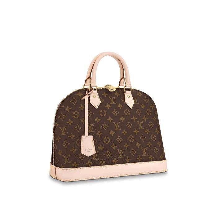 LV Louis Vuitton ALMA medium sac à main Sac bandoulière femme ...