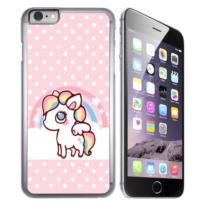 Coque iPhone 7 PLUS Licorne Kawaii