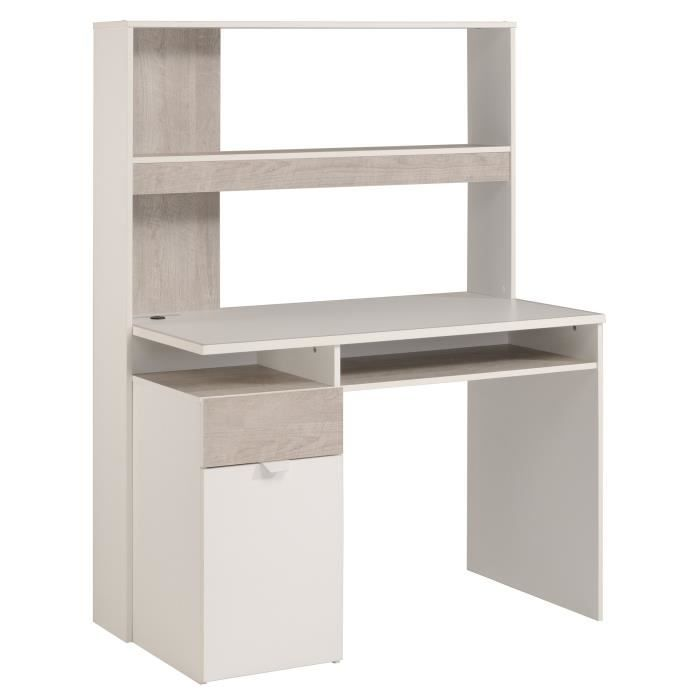 yoni bureau enfant 112 cm gris loft et blanc achat vente bureau yoni bureau enfant 112 cm. Black Bedroom Furniture Sets. Home Design Ideas