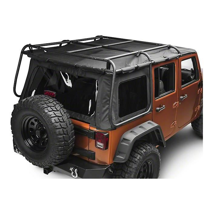 galerie bache exo top jeep wrangler jk 4 portes achat vente galerie galerie bache exo. Black Bedroom Furniture Sets. Home Design Ideas