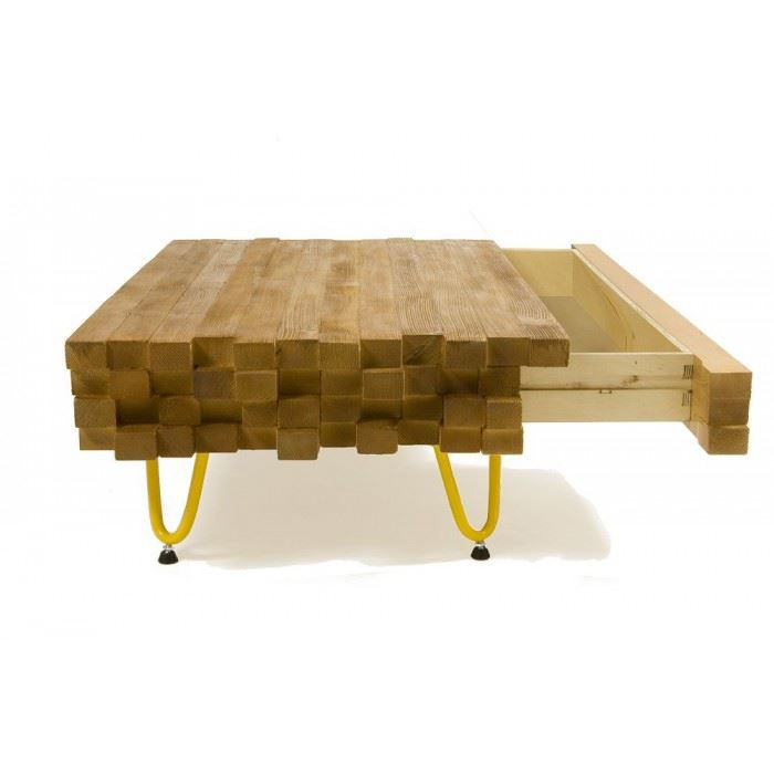 Table basse design chips mati re bois acier cou achat vente table basse table basse design Design interieur table basse en bois