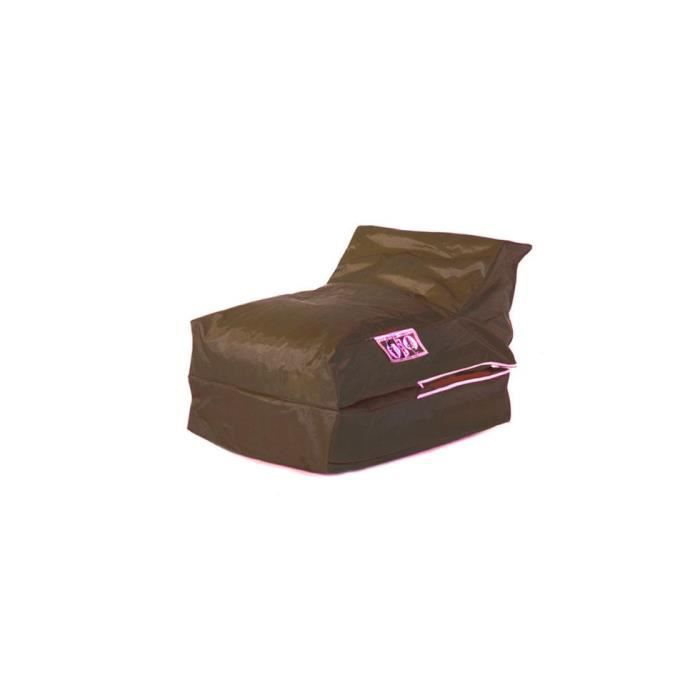 housse de pouf chauffeuse lounger chocolat achat vente pouf poire polyester cdiscount. Black Bedroom Furniture Sets. Home Design Ideas