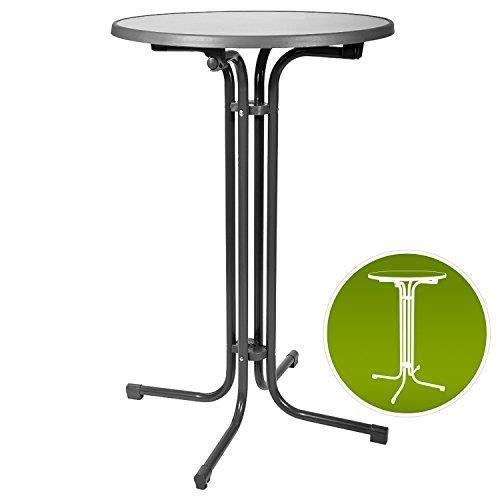 Beautissu Table haute de bistrot Gris 80x110cm Bellini ...