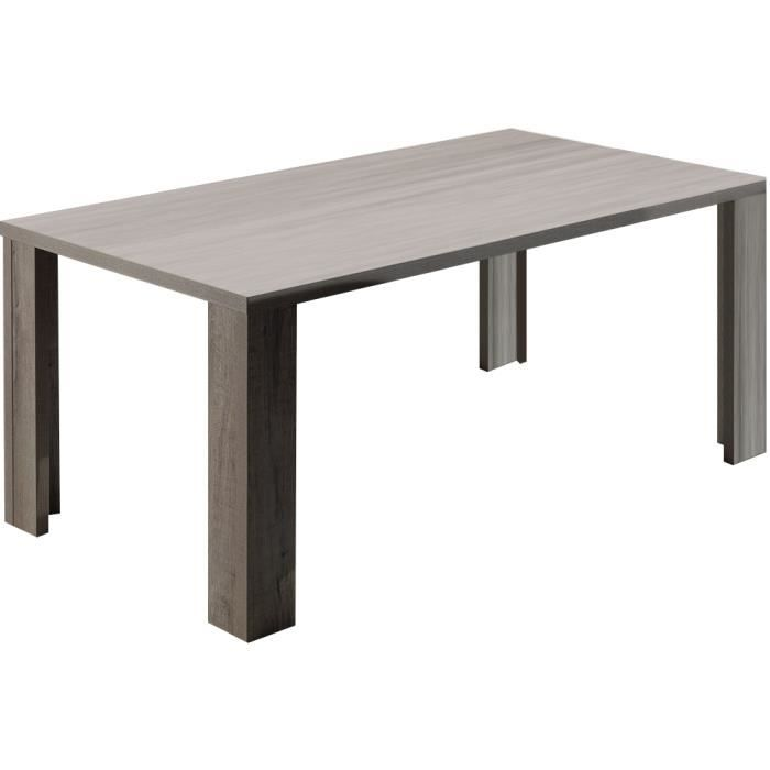 Table de salle manger moderne 180cm coloris ch ne for Table salle a manger moderne but