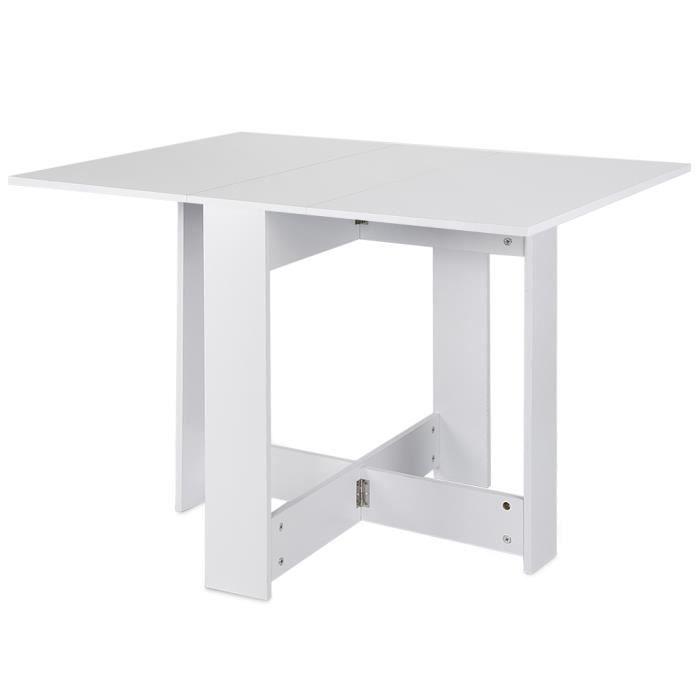 TABLE À MANGER SEULE TABLE PLIANTE 103*76*73.4CM BLANC