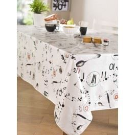 nappe en toile cir e ronde 180 cm kitchen time achat. Black Bedroom Furniture Sets. Home Design Ideas