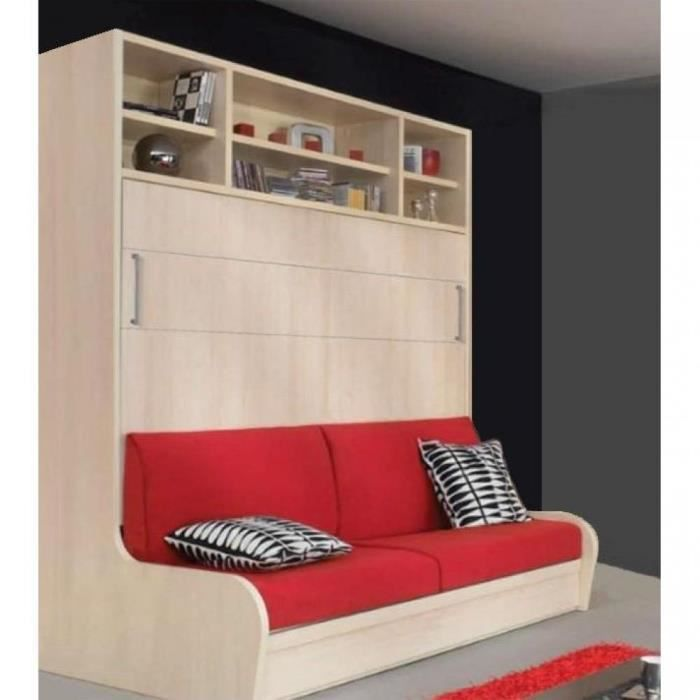armoire lit transversal autoporteur canap achat. Black Bedroom Furniture Sets. Home Design Ideas