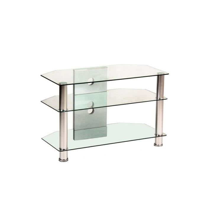 justhome tv 031 meuble tv transparent 50 x 40 x 80 cm