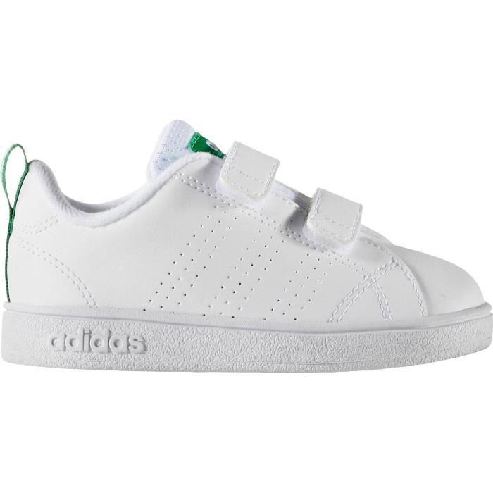 ADIDAS Baskets Advantage Clean Vlc Bébé garçon Blanc et vert