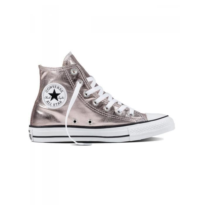 converse fille rose pale