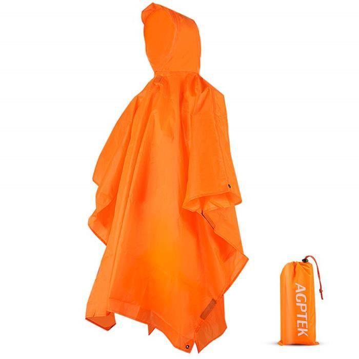 cape en pack de randonnée Pluie MAC Adulte poncho imperméable réutilisable festival wear