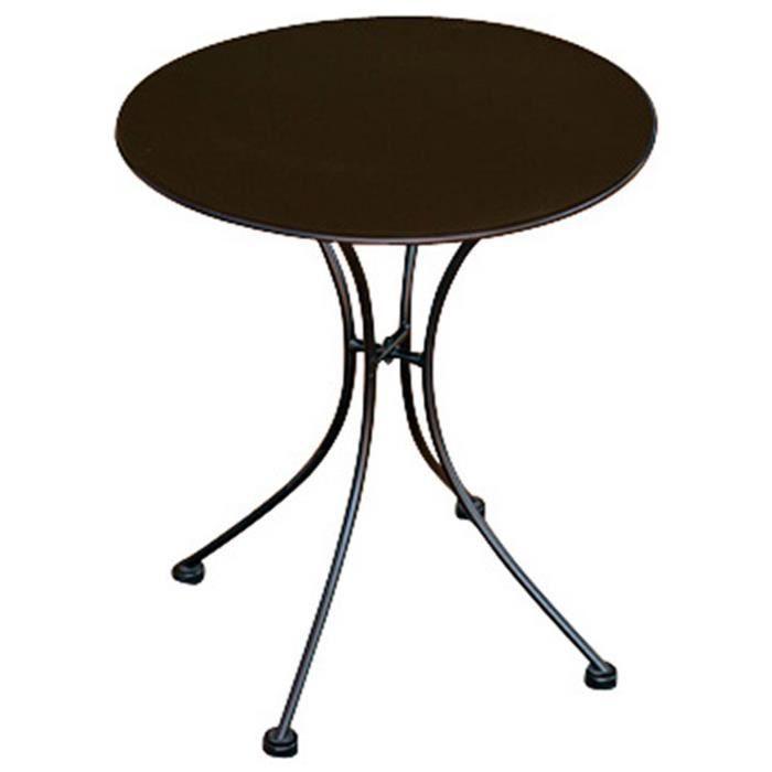 Table ronde en fer forge