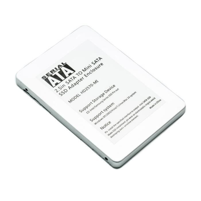 DISQUE DUR SSD Convertisseur adaptateur Mini SATA mSATA SSD ve...