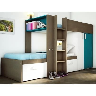 lits superpos s julien 2x90x190cm armoire int achat vente lits superpos s lits. Black Bedroom Furniture Sets. Home Design Ideas