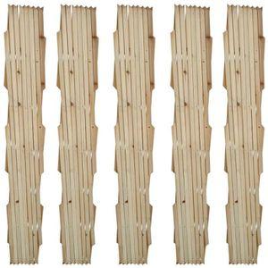 Treillage arrondi maille losange en bois trait/é L90 x H166,5//180cm
