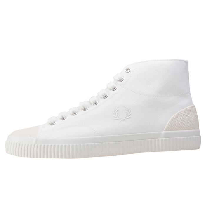 Fred Perry Hughes Mid Hommes Baskets Blanc - 10 UK