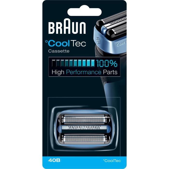 Pièce De Rechange compatible avec les rasoirs CoolTec - BRAUN 40B Bleue