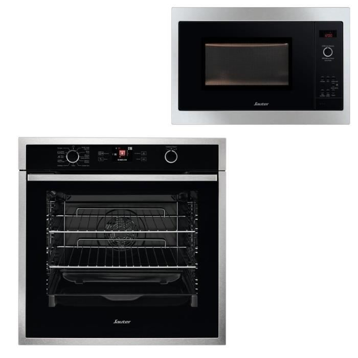 PACK CUISSON SAUTER SOP5764X Four + SMS4340B Micro-ondes - Pack encastrable