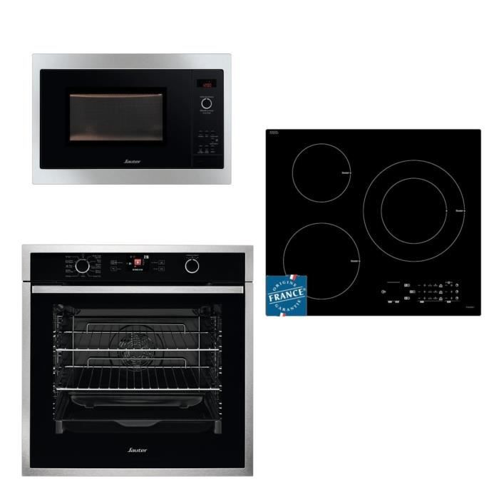 PACK CUISSON SOP5764X Four + SPI5361B Table de cuisson induction + SMS4340B Micro-ondes Pack encastrable