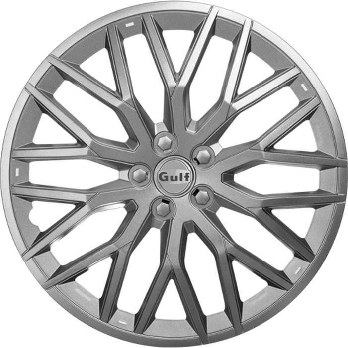 GULF GT40 4 Enjoliveurs 16 Pouces Gris
